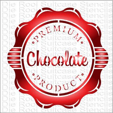 Chocolate Stamp 10x10cm