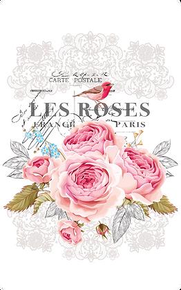 """Les Roses - 28x37cm (11x15"""") Portrait (Solid Design)"""