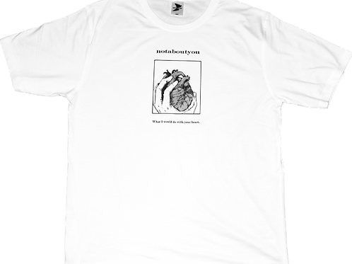 WHITE HEART SHORT SLEEVE
