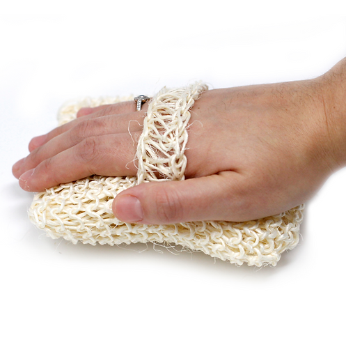 Natural Body Scrubber with hand strap
