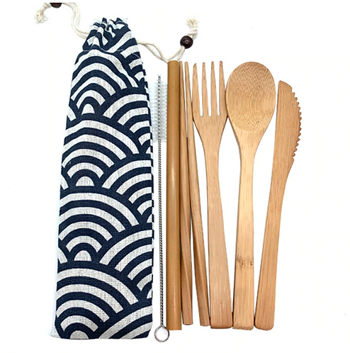 Bamboo Cutlery Set - Pouch