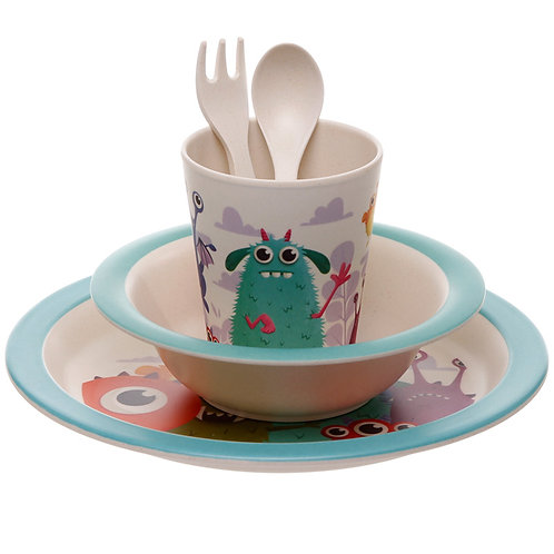 Bamboo  Monsters 5 Piece Kids Dinner Set