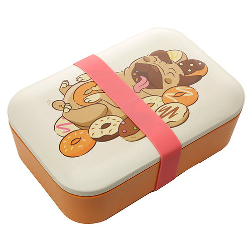 Bamboo Mopps Pug Lunch Box