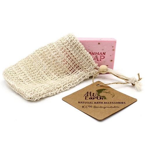 washed jute eco friendly soap pouch