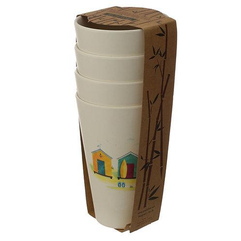 Bamboo Beach Hut Set of 4 Cups