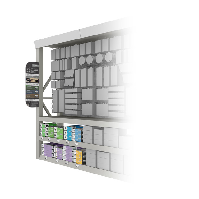 3D product's rendering - Package and Display in Lowe's
