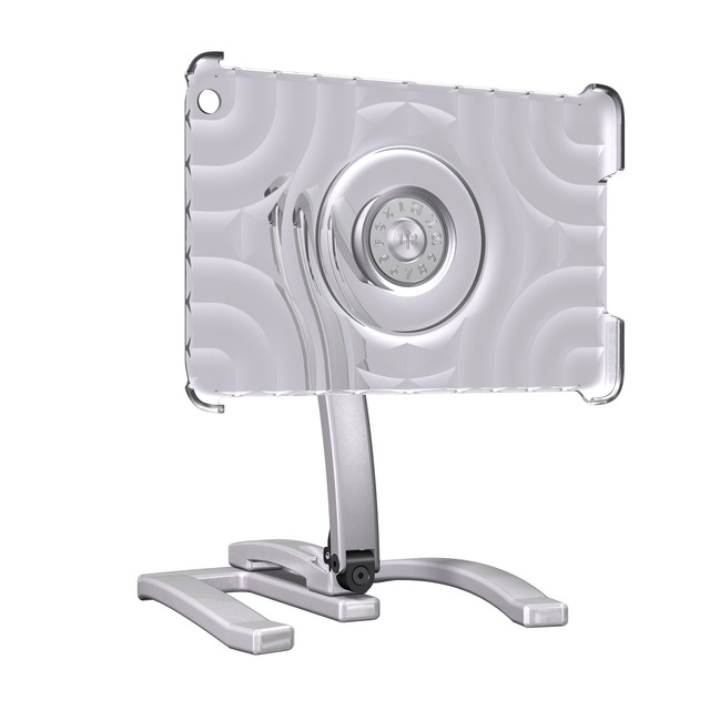 3D product's rendering - Glass iPad Mount with stand