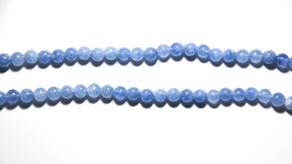 LIGHT BLUE MACRAME NECKLACE