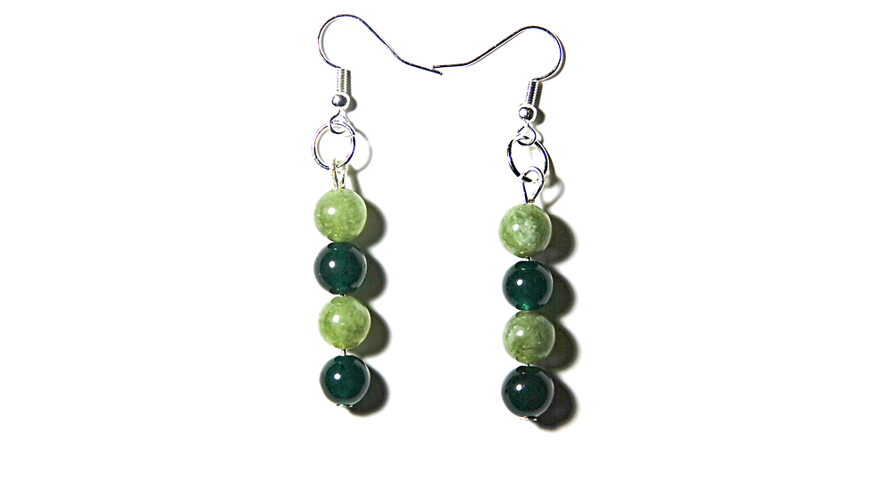 LIGHT GREEN AND DARK GREEN COLOR EARINGS