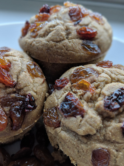 Multigrain Muffins w/ (Fun!) Sour Raisins