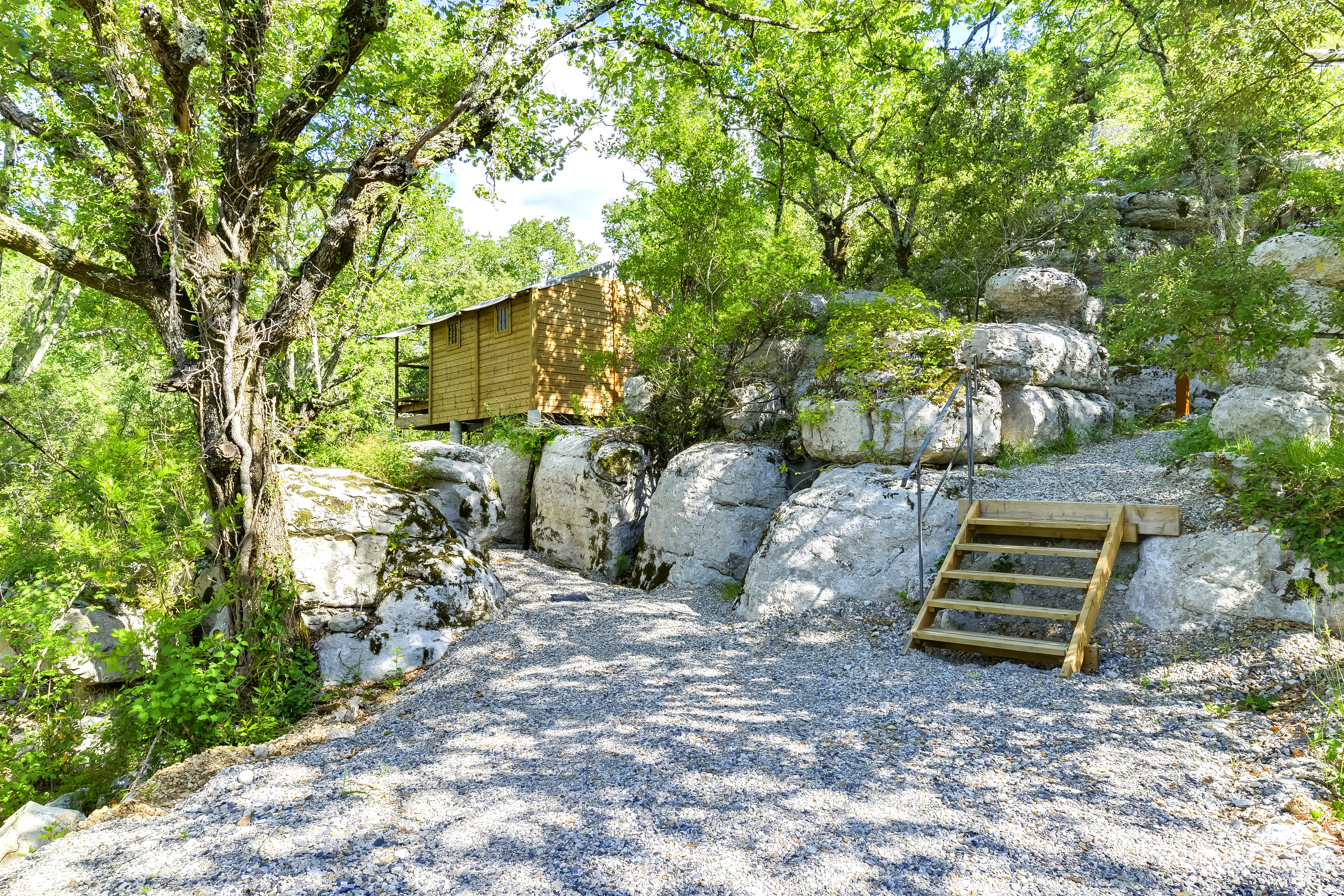 Cabane-Lodge Le Vallon - Escalier