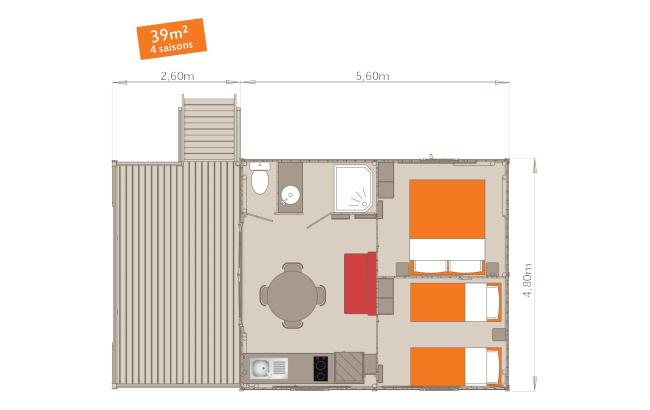 Cabane-Lodge Le Cade - Plan