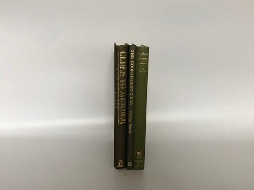 カラー洋書 グリーン 3冊セット(M196)