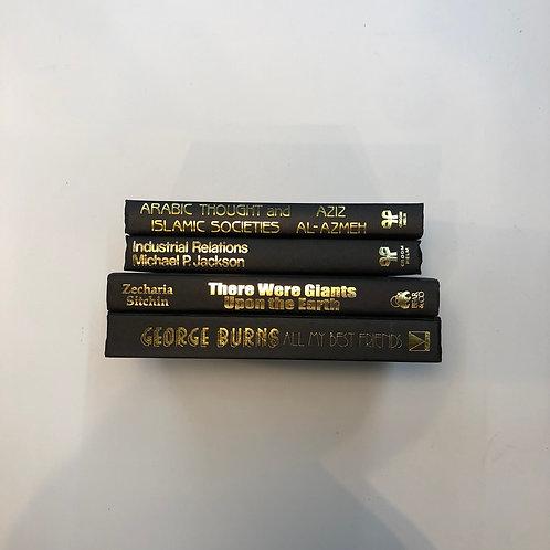 モノトーン洋書 ブラック 4冊セット(M327)