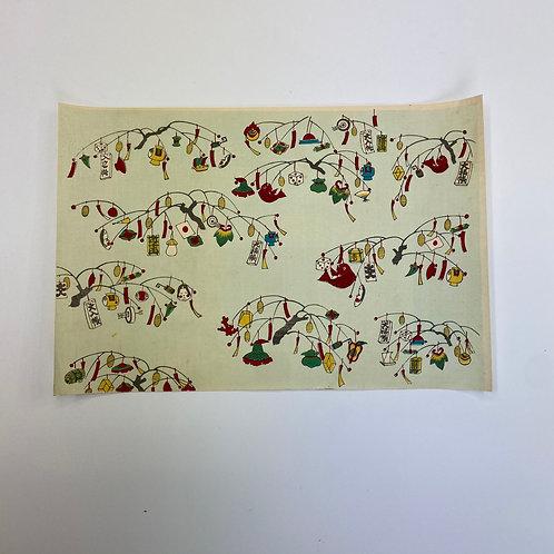 千代紙 木版画