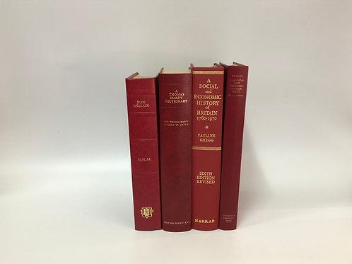 カラー洋書 レッド 4冊セット(M279)