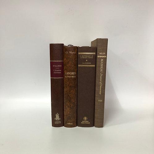 カラー洋書 ブラウン 4冊セット(M301)