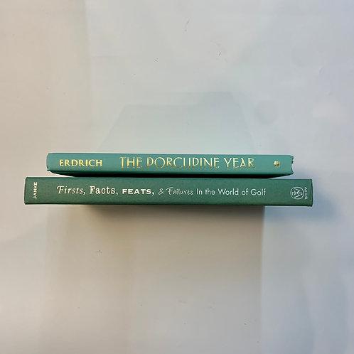 カラー洋書  ライトグリーン2冊セット(M370)