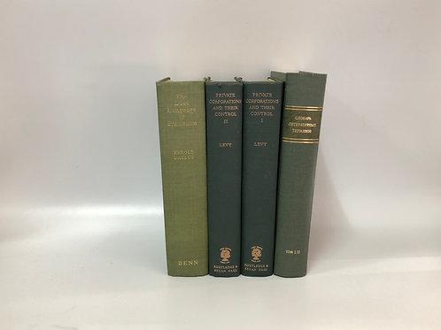 カラー洋書 グリーン 4冊セット(M277)