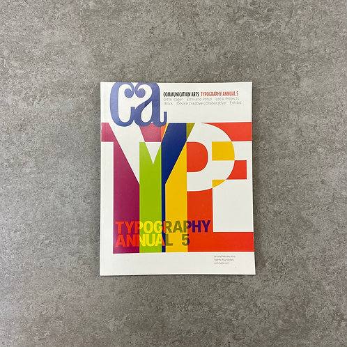 COMMUNICATION ARTS TYPOGRAPHY ANNUAL 5【デザイン】【ペーパーバック】