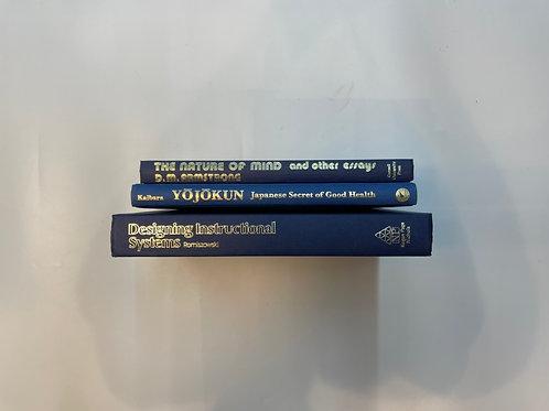 カラー洋書 ブルー 3冊セット(M497)
