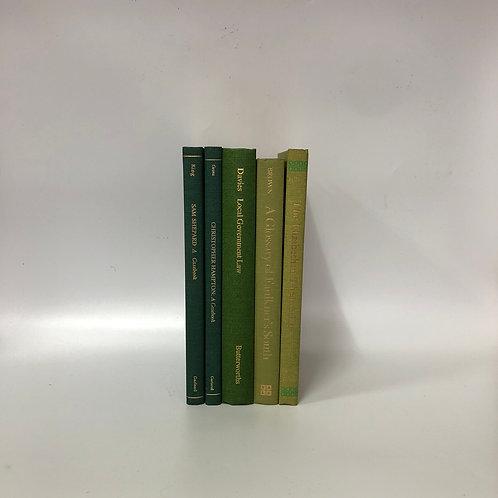 カラー洋書 グリーン 5冊セット(M294)