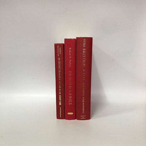 カラー洋書 レッド 3冊セット(M297)