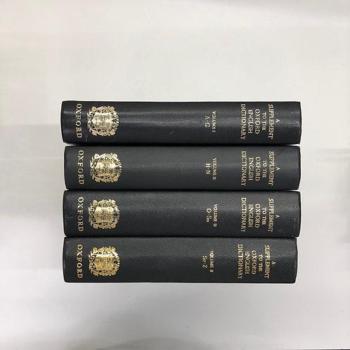 【大判】全集 A SUPPLEMENT TO THE OXFORD ENGLISH DICTIONARY ネイビー  4冊セット(M318)