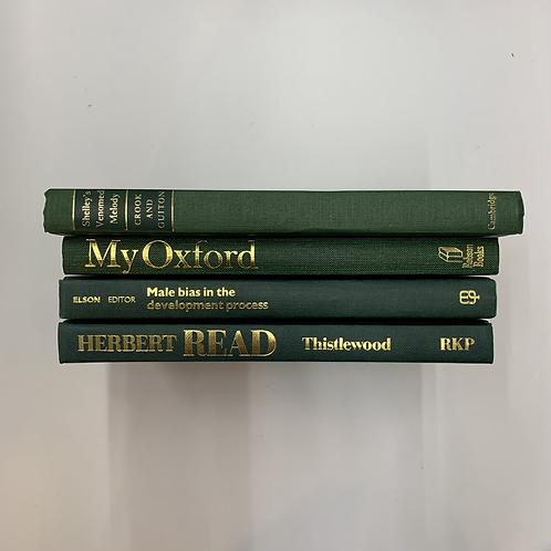 カラー洋書 グリーン4冊セット(M304)