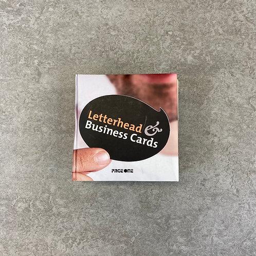Letterhead Business Cards【デザイン】【ハードカバー】