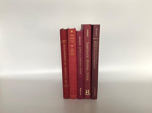 カラー洋書 レッド 5冊セット(M186)