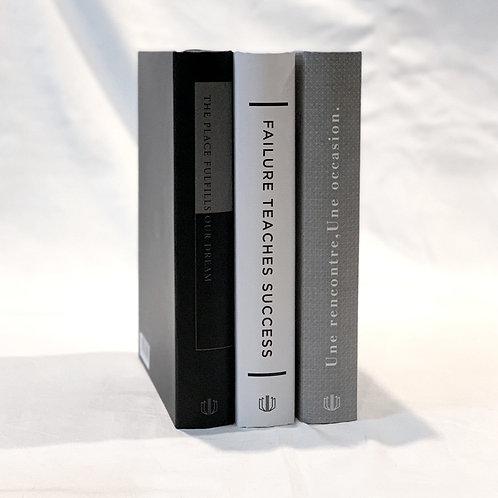 【イミテーションブック Mサイズ】3冊セット(ホワイト・グレー・ブラック)