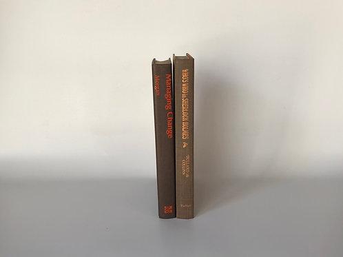 カラー洋書 ブラウンオレンジ文字 2冊セット(M103)