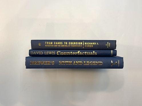 カラー洋書 ブルー 青3冊セット(M412)
