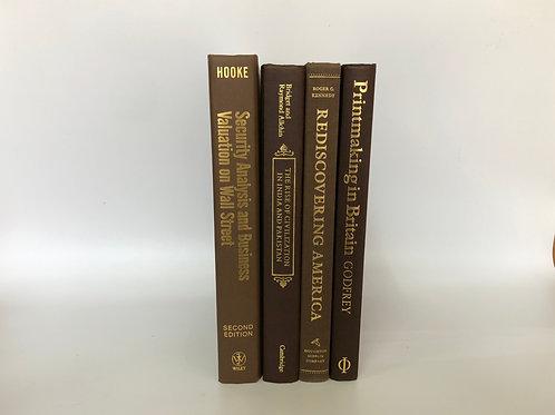 カラー洋書 ブラウン 4冊セット(M287)