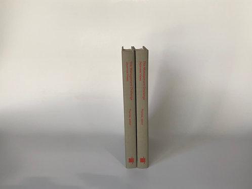 モノトーン洋書 グレー赤文字 2冊セット(M106)