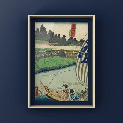 【ダウンロード】浮世絵データ/0076/東海道名所之内 品川八ツ山下