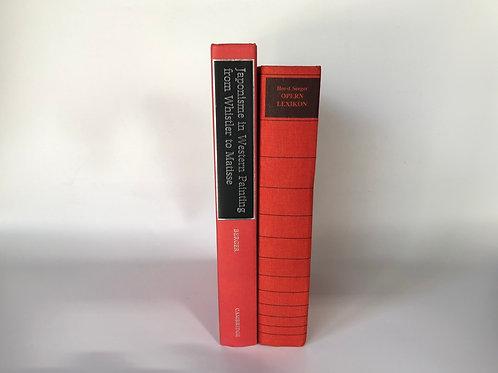 カラー洋書 レッド×黒字 2冊 (M111)