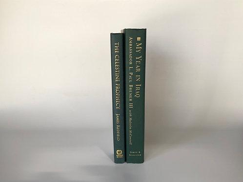 カラー洋書 寒色 グリーン 2冊(M118)
