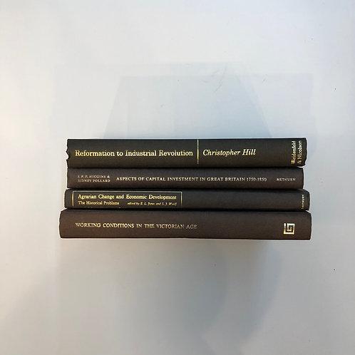 カラー洋書 ブラウン 4冊セット(M307)