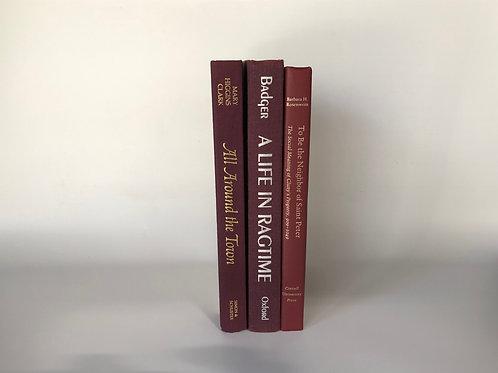 カラー洋書 レッド 3冊(M123)