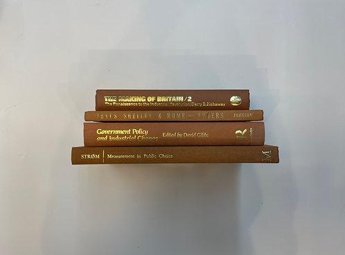ディスプレイ洋書  ブラウン 茶4冊セット(M456)