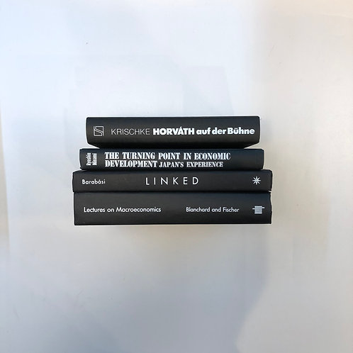 モノトーン洋書 ブラック 4冊セット(M311)