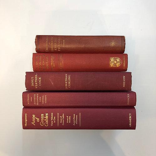 カラー洋書 レッド 5冊セット(M305)