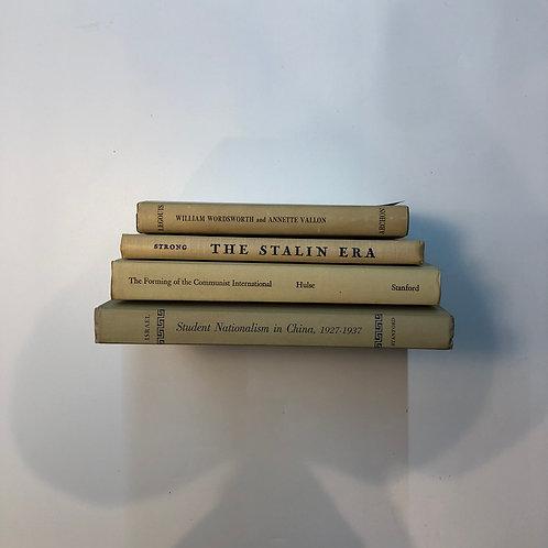 カラー洋書 ベージュ 4冊セット(M345)