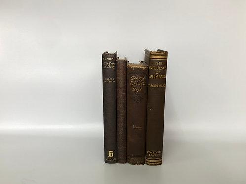 カラー洋書 ブラウン 4冊セット(M254)