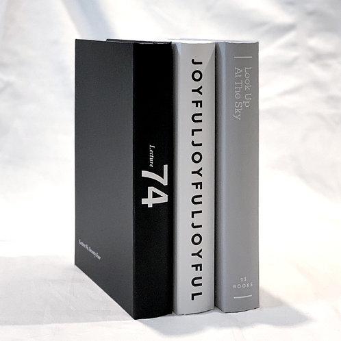 【イミテーションブック Lサイズ】3冊セット(ホワイト・グレー・ブラック)