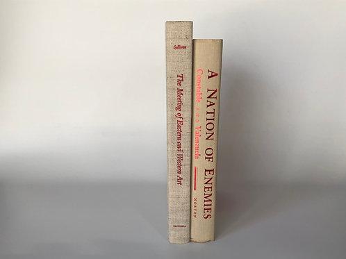 カラー洋書 ベージュ2冊 (M113)