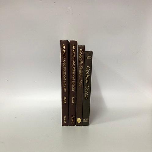 カラー洋書 ブラウン 4冊セット(M295)