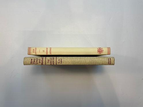 ディスプレイ洋書  アイボリー2冊セット(M426)